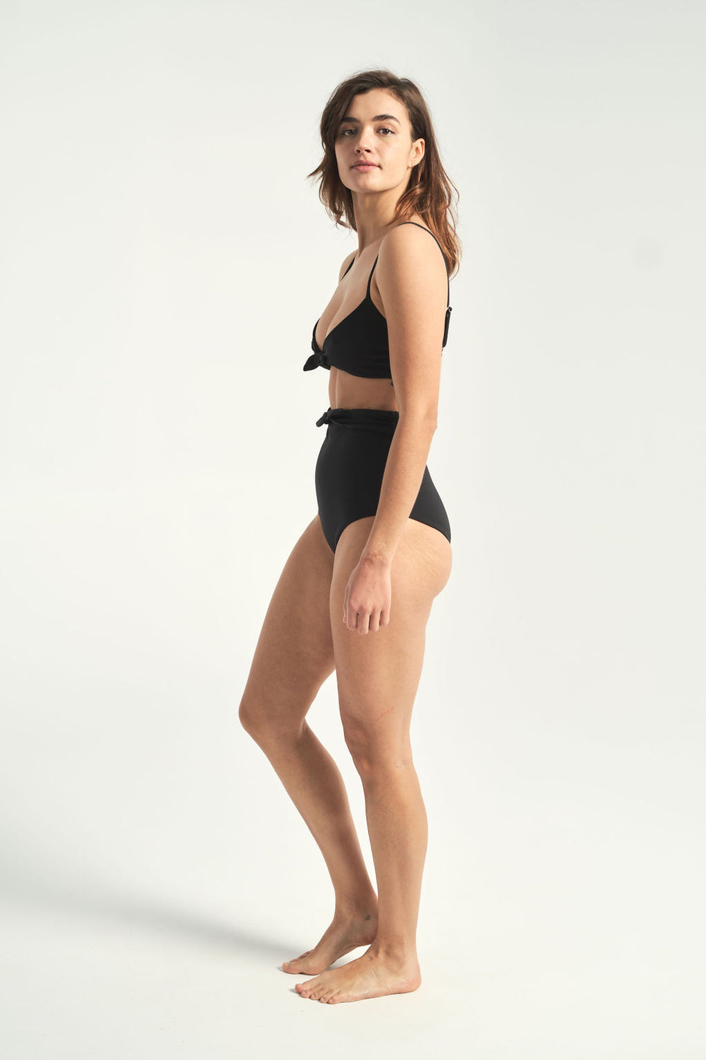 Mara Hoffman-Jay black high-waisted bikini bottoms-Idun-St.Paul