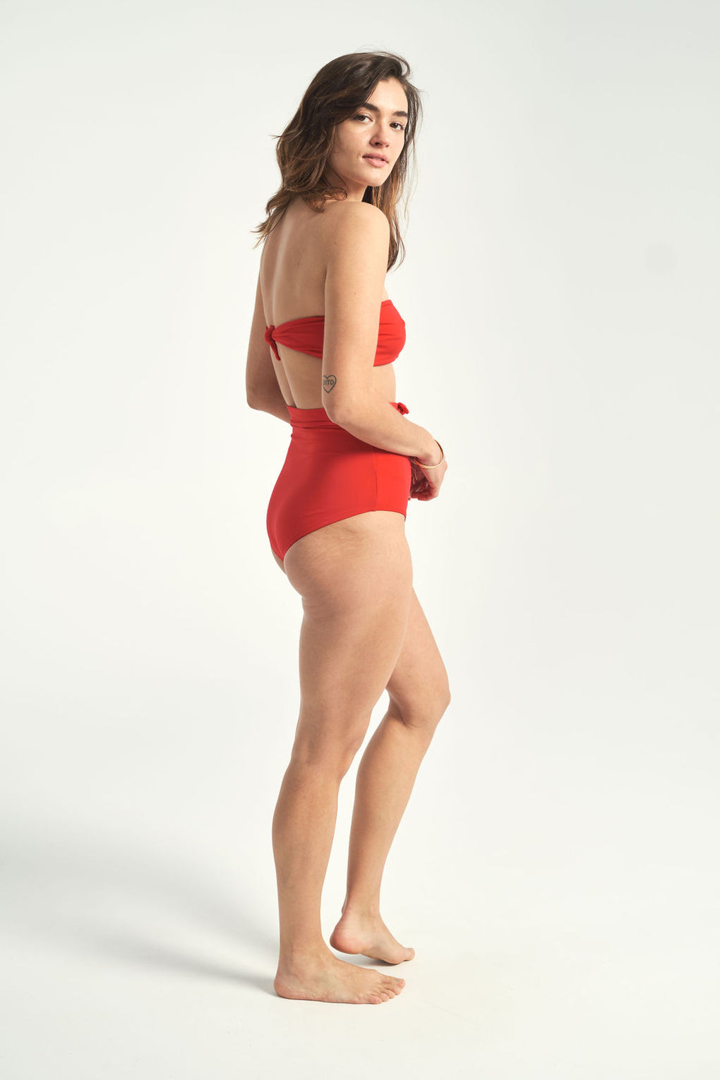 Mara Hoffman-Jay red high-waisted bikini bottoms-Idun-St.Paul