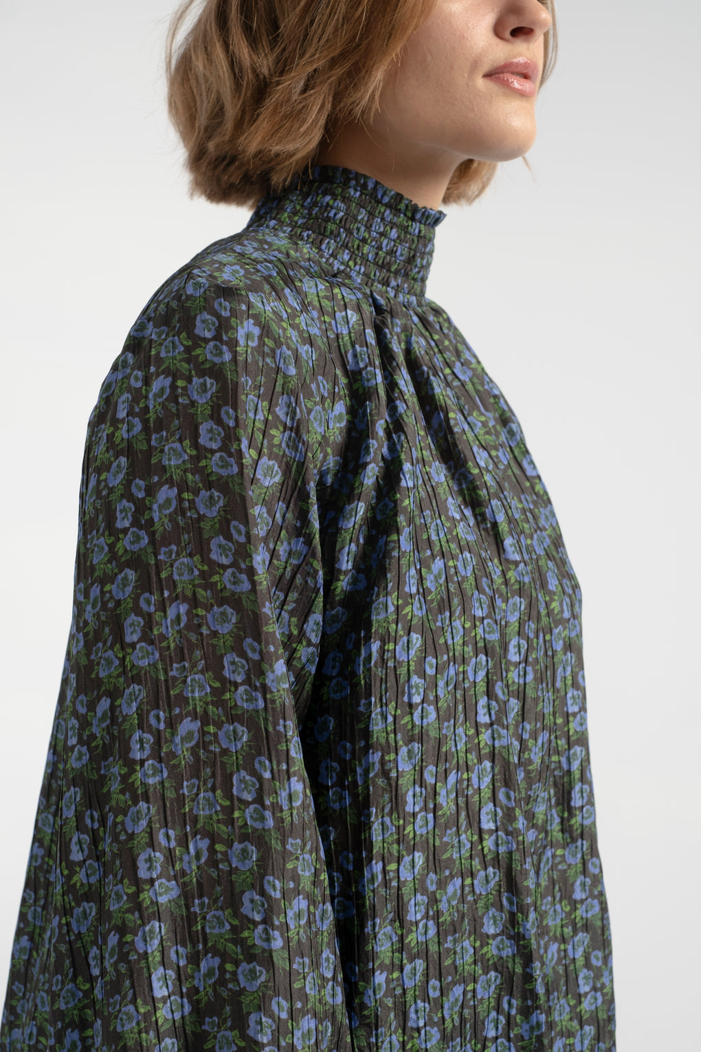 No. 6- No.6-No. 6 Thea blouse-turtleneck blouse-floral blouse-silk top-floral silk shirt-Idun-St. Paul