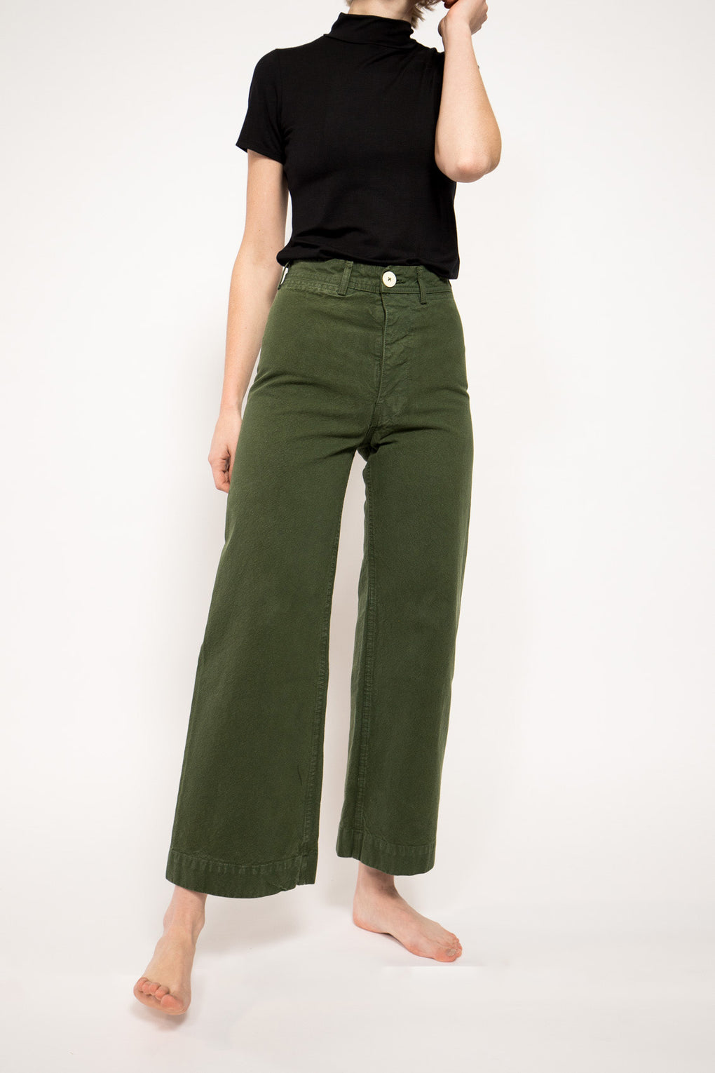 Sailor Pants in Olive