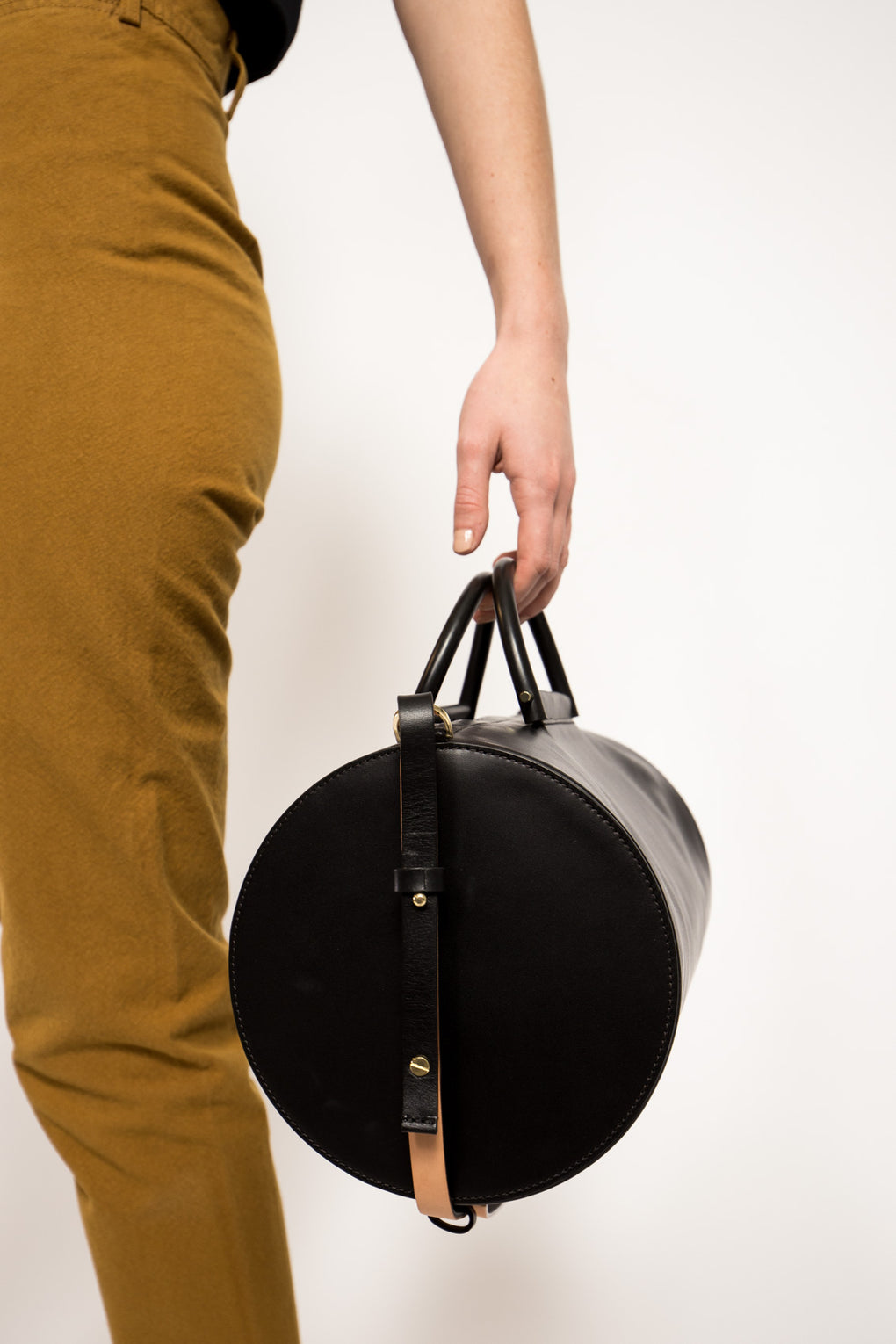 Cylinder Duffel in Black