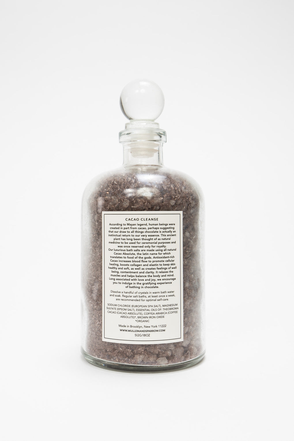 Mullein and Sparrow Cacao Bath Salts-Apothecary-Idun-Saint Paul