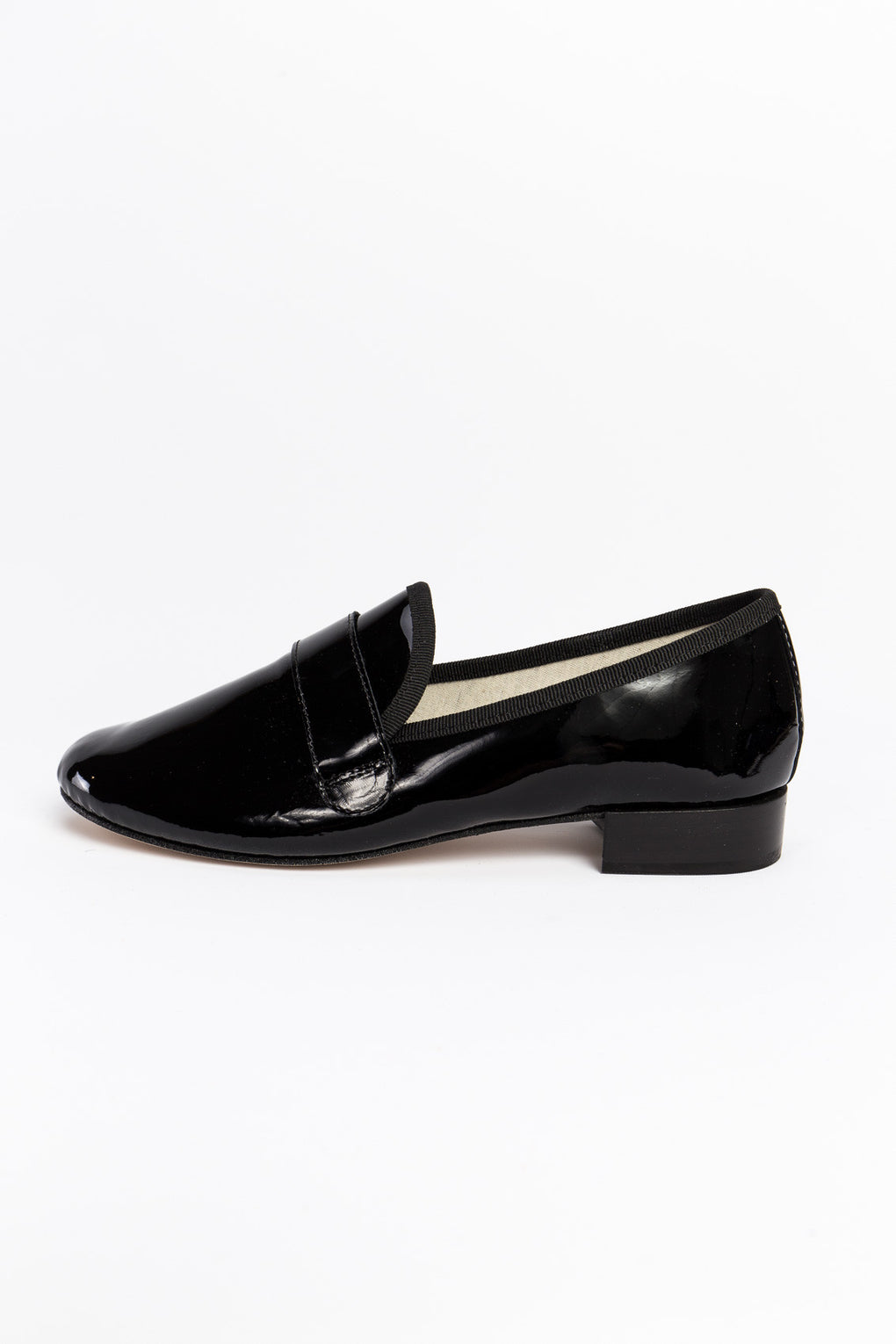 Repetto Michael Loafers-Black patent loafer-Repetto shoes-Idun-Saint Paul