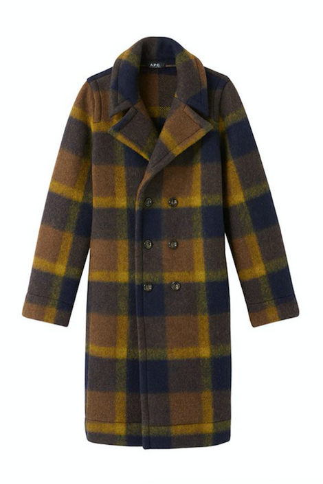 A.P.C.-A.P.C. Jane coat-tartan wool coat-tartan winter coat-Idun-St. Paul