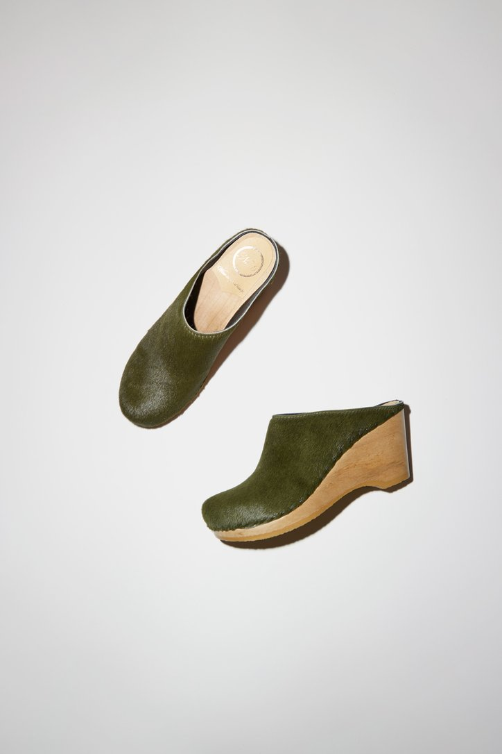 No.6 New School Clog on Wedge-No.6 Wedge clog-No.6 New School Clog-No.6 green clog-No.6 New School Clog in green-Idun-St. Paul