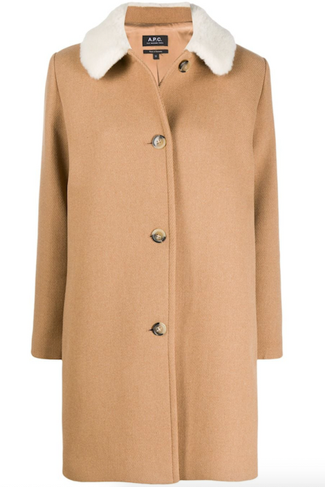 A.P.C.-A.P.C. New Doll Coat-camel winter coat-wool winter coat-Idun-St. Paul