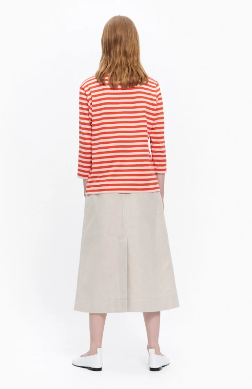 Marimekko Ilma Shirt - orange striped shirt - Idun - St. Paul