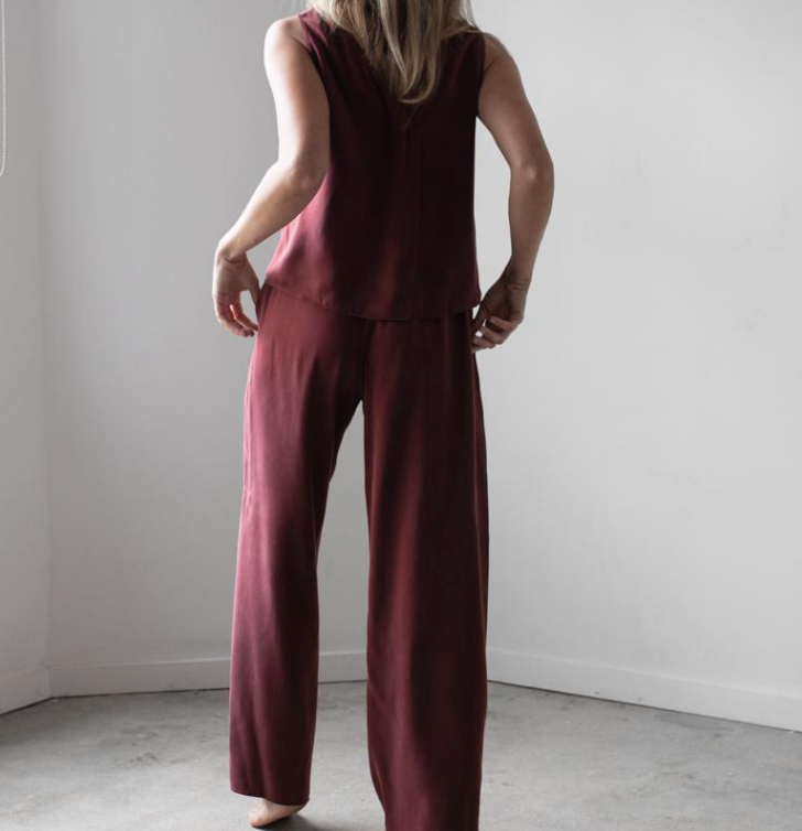 Washable Silk Pant Set