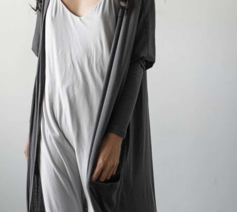 Pima Long Cardigan