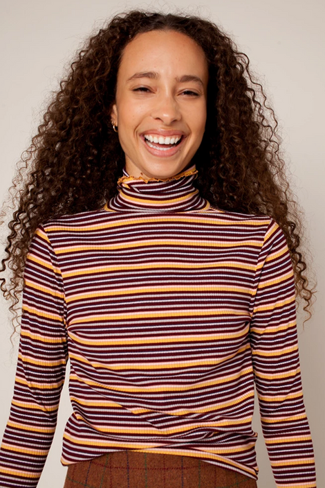 Idun-Saint Paul-Rachel Antonoff April Turtleneck-Striped Turtleneck