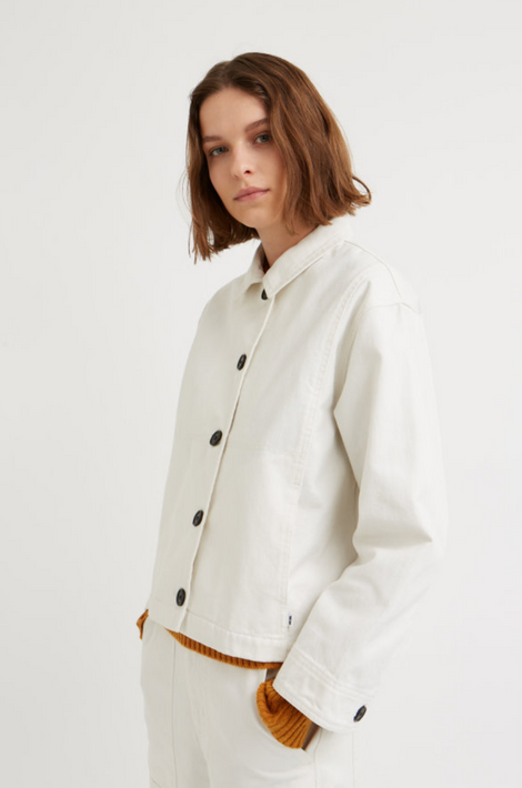 Idun-Saint Paul-Wood Wood Osa Jacket-White Jacket-Denim Jacket-Workwear Jacket