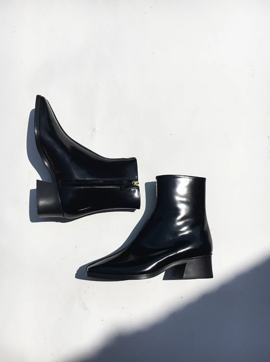 Idun-Saint Paul-Suzanne Rae Welt Sole Boots-Black Boots-Leather Boots-Fall Boots
