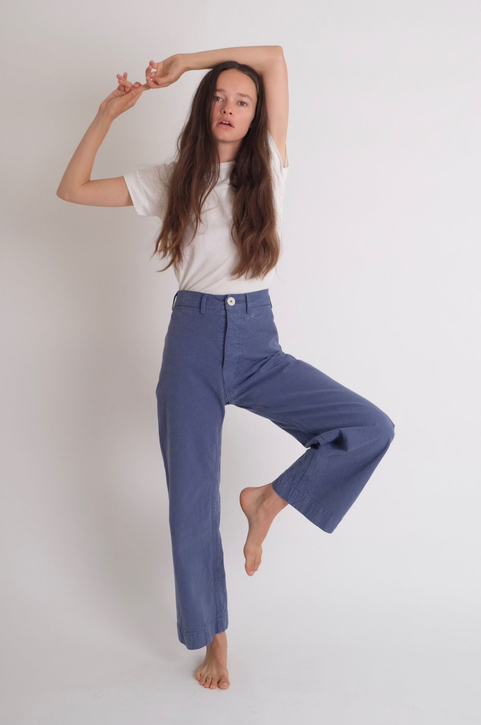 Idun-Saint Paul-Kamm Pants-Jesse Kamm Sailor Pants-Wide Leg Pants-Blue Pants-Blue Trousers