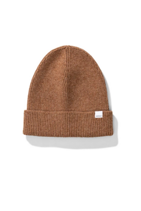 Norse Lambswool Beanie in Camel