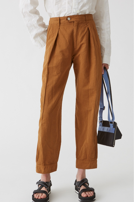 Idun-Saint Paul-Hope Terra Trouser-Brown Trouser-Clay Trouser-Slouchy Trouser
