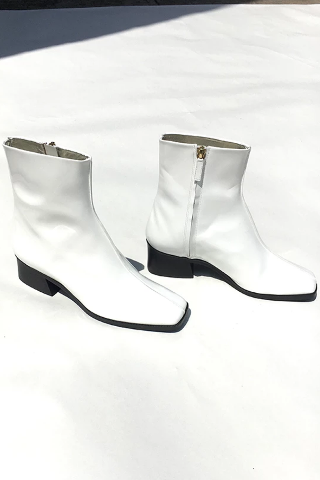 Idun-Saint Paul-Suzanne Rae Welt Sole Boot-White Boots-Leather Boots-Fall Boots