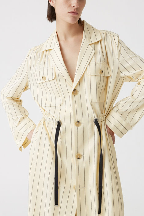 Idun-Saint Paul-Hope Port Coat-Pinstripe blazer-Cream Trench