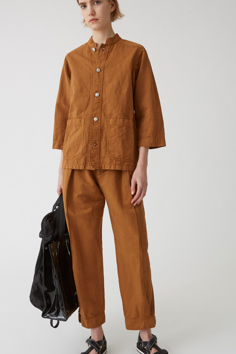 Idun-Saint Paul-Hope Escape Work Jacket-Brown Button Down