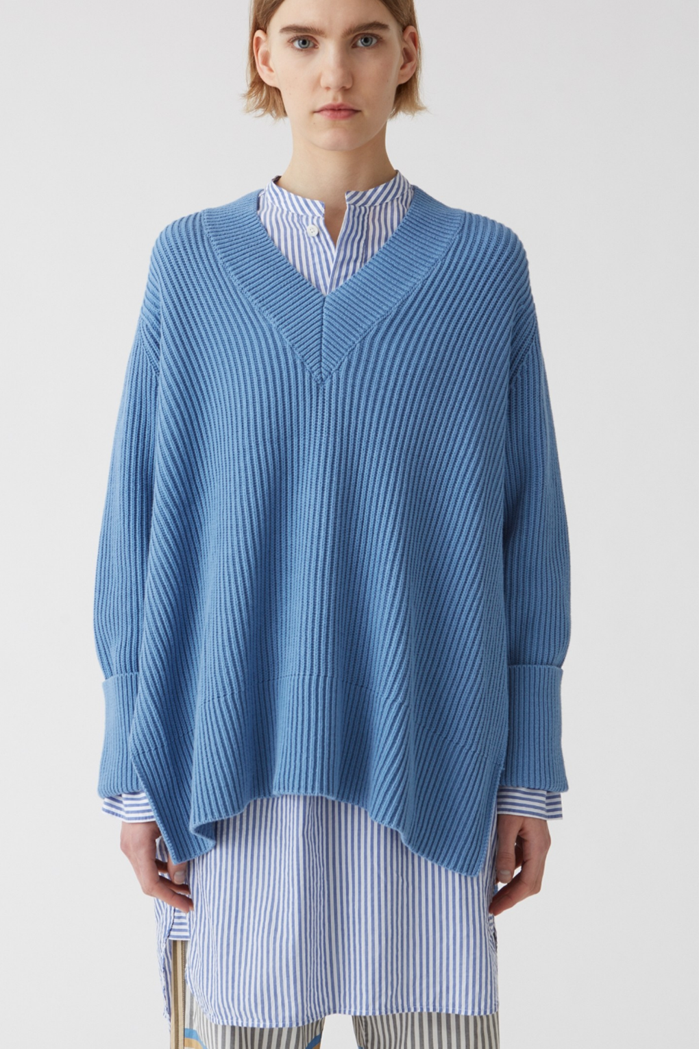 Idun-Saint Paul-Hope Moon Sweater-Blue Sweater