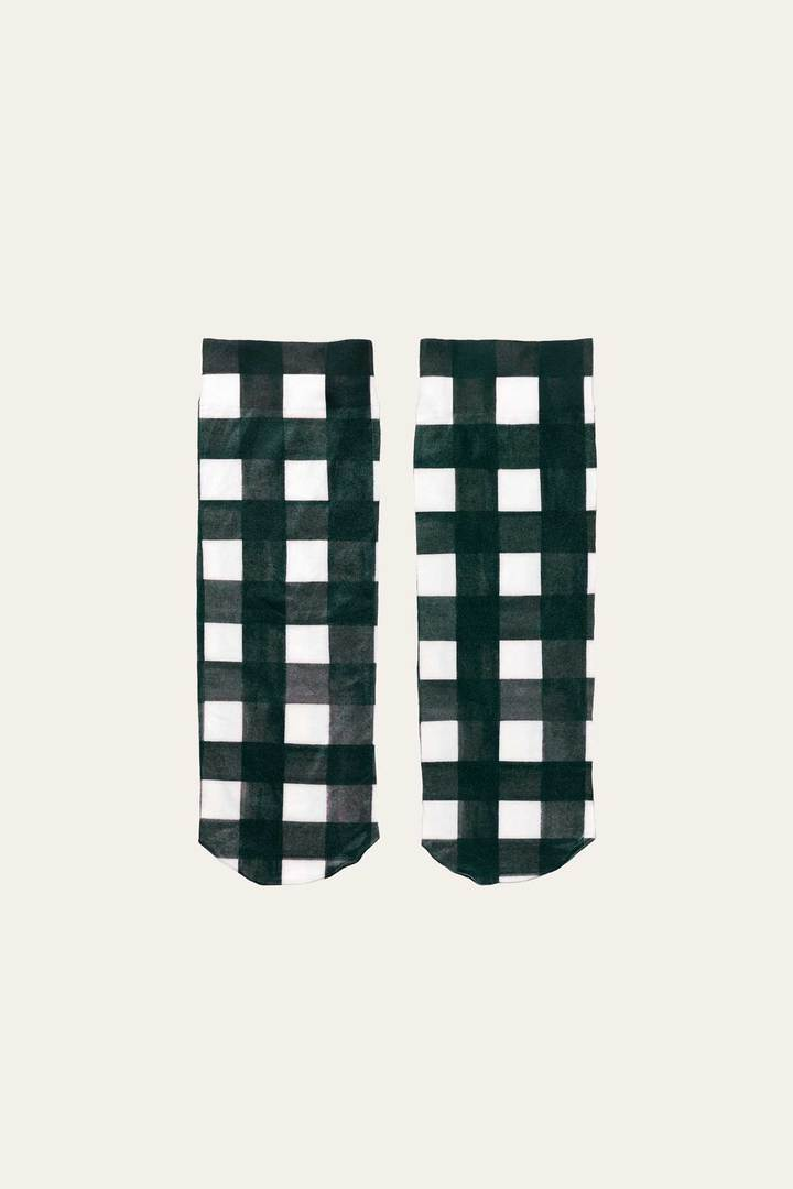 Stine Goya-Verita socks-black and white socks-gingham socks-Idun-St. Paul
