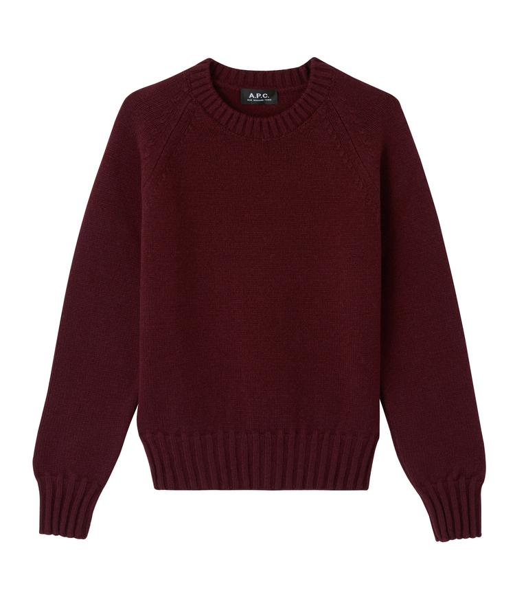 A.P.C.-A.P.C. Alyssa sweater-burgundy sweater-bordeaux sweater-wool sweater-Idun-St. Paul