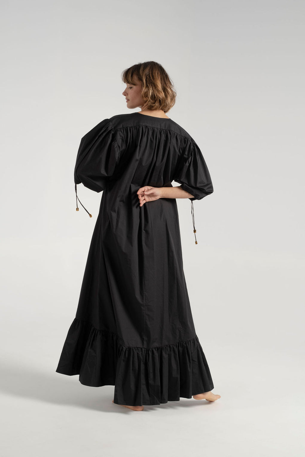 Rodebjer - Rodebjer Dakota dress - long black dress - structured black dress - Idun - St. Paul