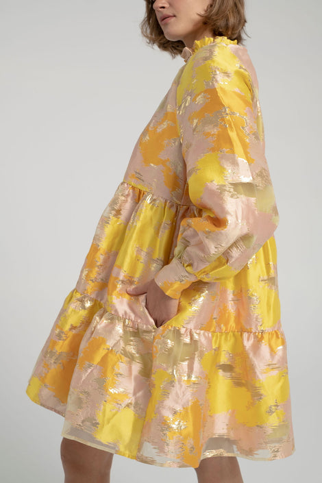 Stine Goya-Jasmine Dress-yellow floral dress-spring floral dress-Idun-St. Paul