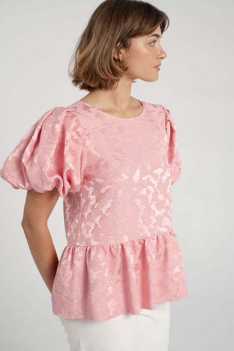 Stine Goya-Miren Top-pink top-puffy sleeve top-Idun-St. Paul
