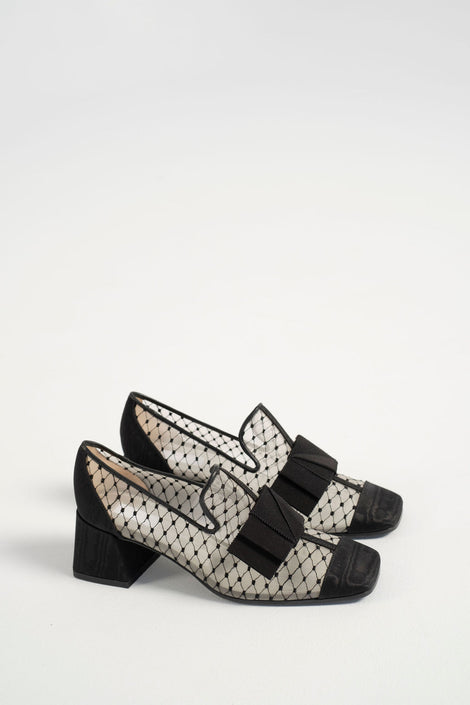 Suzanne Rae-Reseau Smoking loafer-black loafer-black mesh loafer-Suzanne Rae shoes-Suzanne Rae loafer-Idun-St. Paul