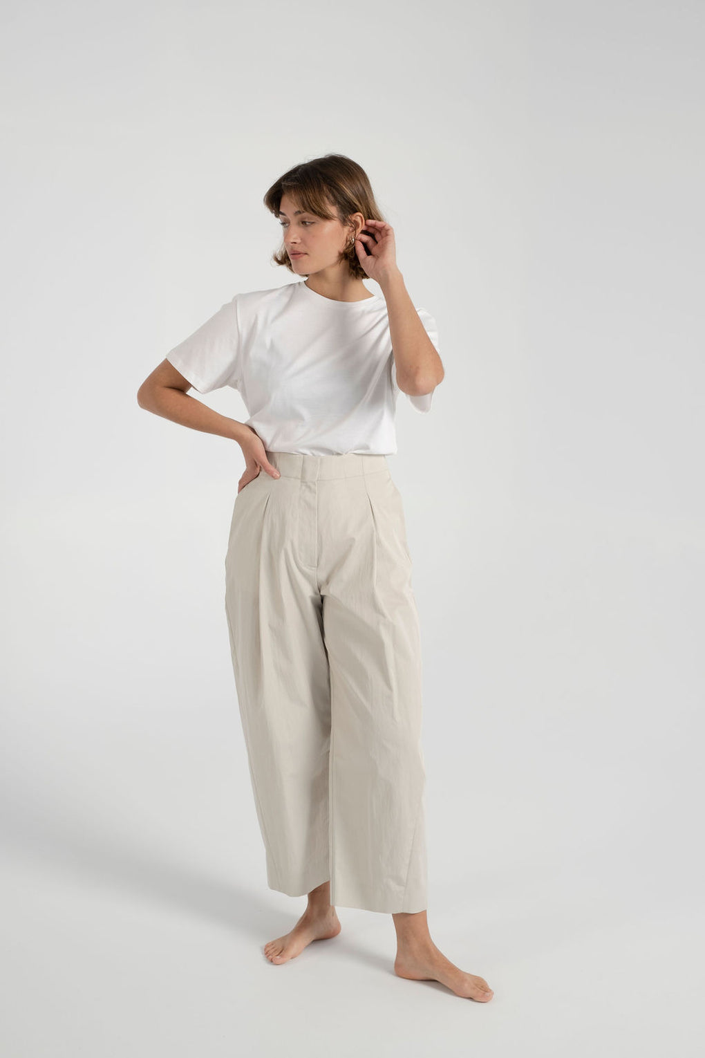 Studio Nicholson-Ballou Pant-off white trousers-Idun-St. Paul