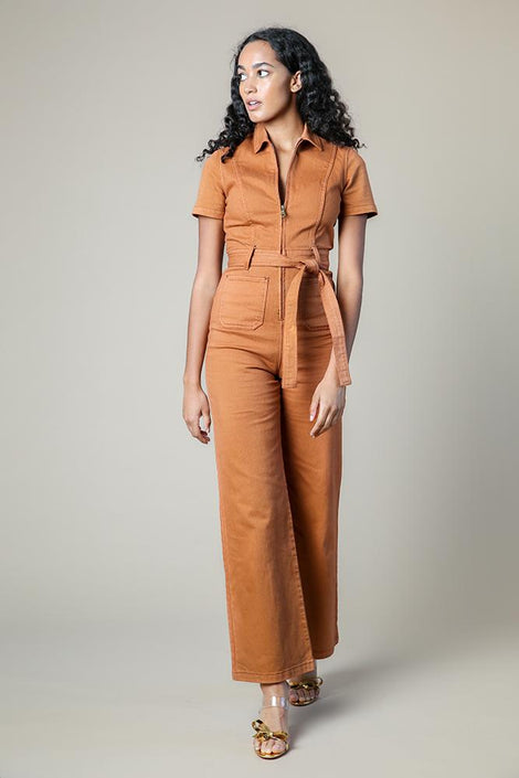 Rachel Antonoff-Rachel Antonoff Sal Jumpsuit-Rachel Antonoff orange Sal jumpsuit-orange jumpsuit-Idun-St. Paul