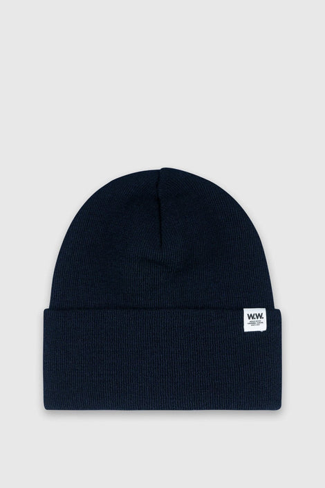 Gerald Tall Beanie in Navy