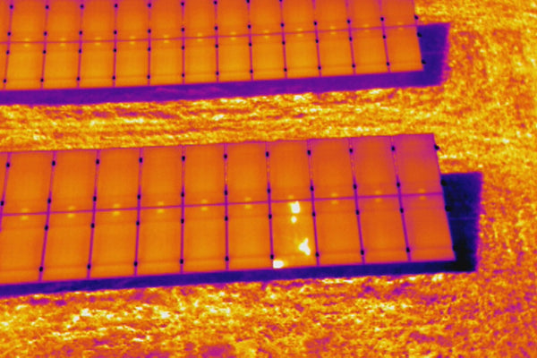 Solar Panel Thermal Image UAV