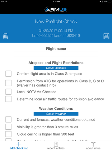 Part 107 Checklist App 1