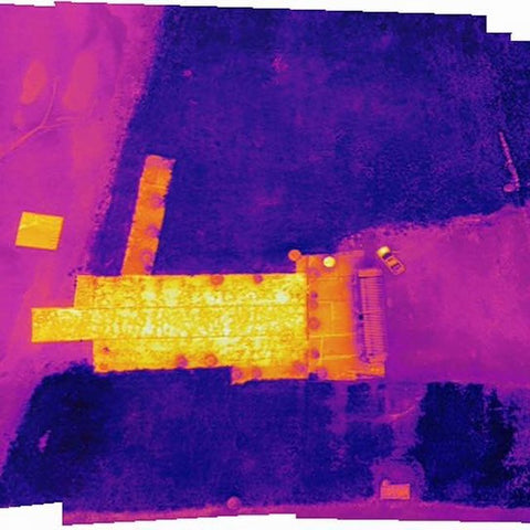 IR thermal image mapping