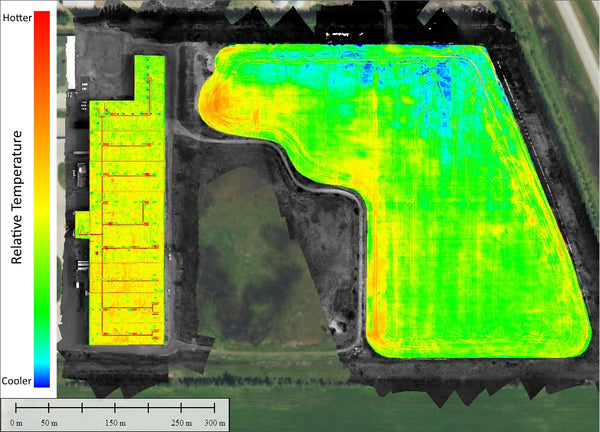 Thermal Mosaic Of Soybean Field Rmus Rocky Mountain