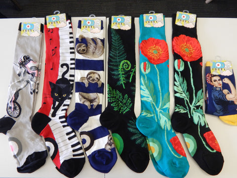 Buy fun funky knee high and crew socks at Vivre, Nelson, NZ