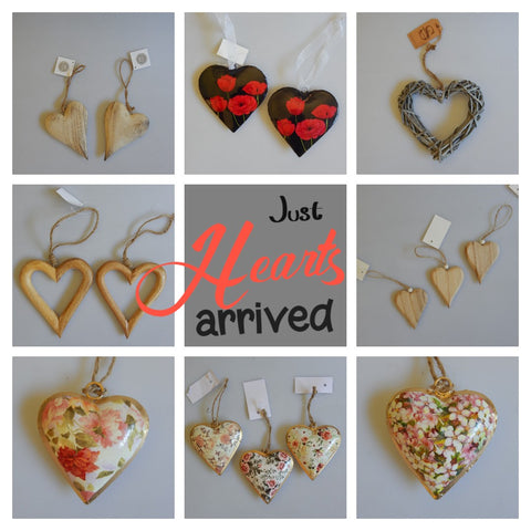 Floral shabby chic hearts buy now at Vivre, Nelson, NZ