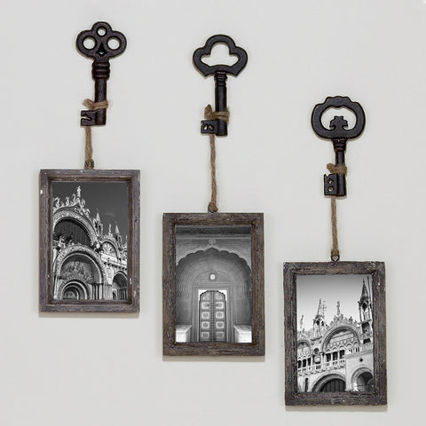 Rustic vintage looking decorative Cast Iron Single Key on Ring buy now at Vivre, Nelson, NZ