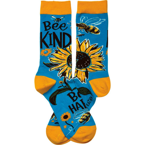 Bee Kind Bee Happy Socks