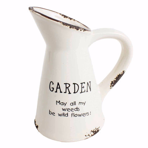 Cute mini garden jug for wildflowers at Vivre, Nelson, NZ