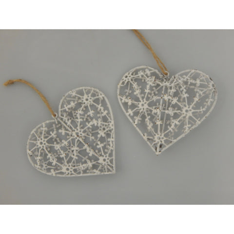 3D White Hanging Heart