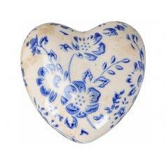 Blue & White Floral Hearts