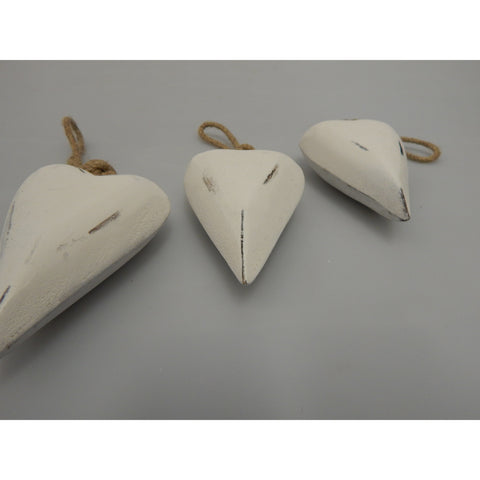 Chunky shabby chic white hearts at Vivre, Nelson, NZ