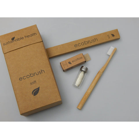Biodegradable, sustainable, environmentally friendly bamboo toothbrushes and dental floss