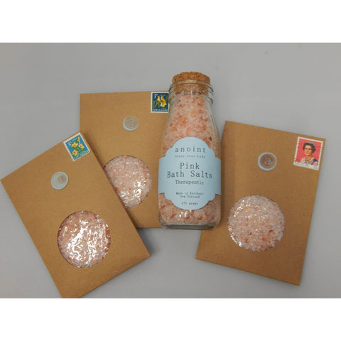 Pink Bath Salts all natural hand made in NZ, buy at Vivre, Nelson, NZ, pamper skincare gifts for her