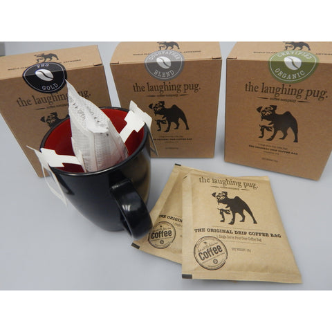 Drip Coffee Bags from The Laughing Pug Coffee Company