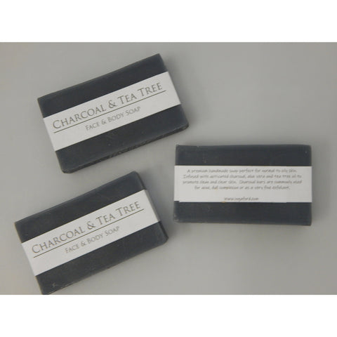 Activated Charcoal and Tea Tree Oil face and body soap for normal to oily skin, buy now at Vivre, Nelson, NZ, all natual