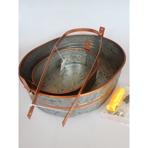 Two-Tiered Tray with Copper Accents