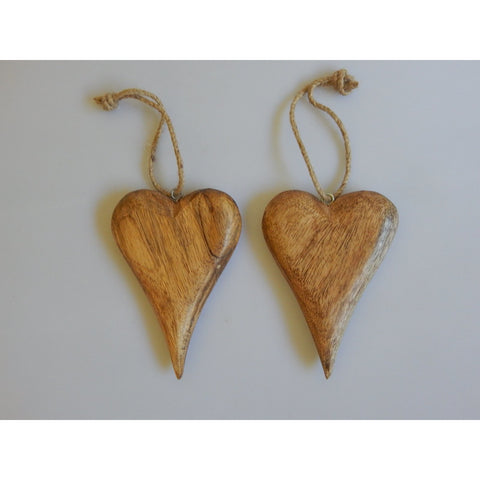 Tapered Chunky Wooden Heart